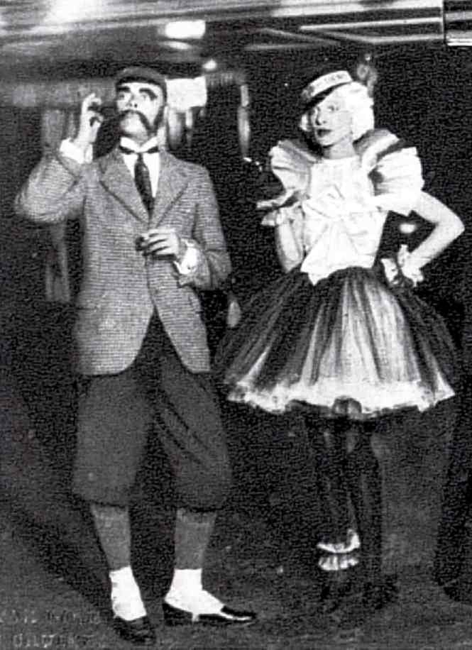 mel and mrs J B Melhuish in 1934 in fancy dress