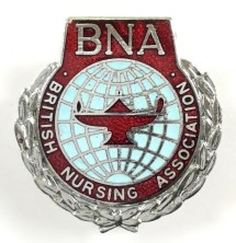 British Nursing Association badge